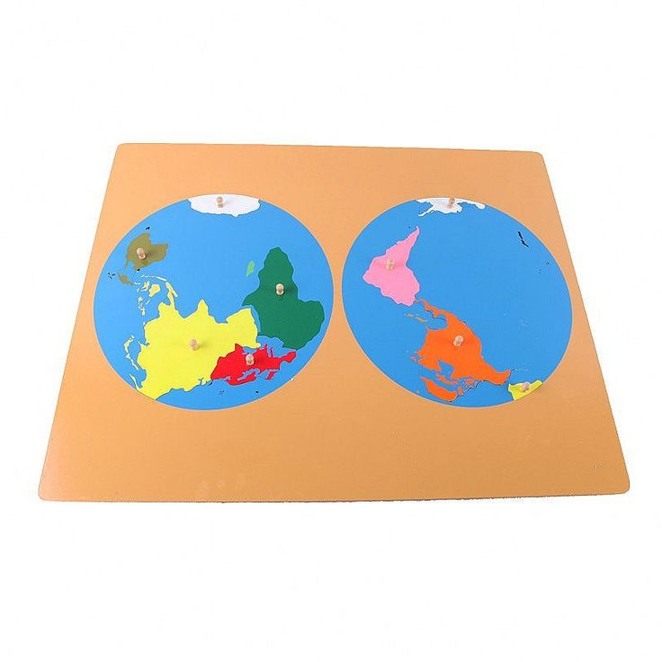 Puzzle Map of World Parts
