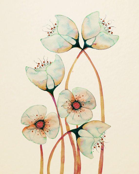 Imaginado Botanicals 12 x 16 por Buttermoths en Etsy                                                                                                                                                                                 Más