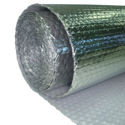 For insulating the shed - B&Q Value Aluminium Foil Loft Insulation