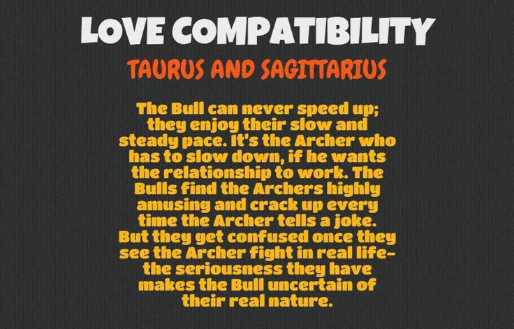Sagittarius Man And Taurus Woman Love Compatibility
