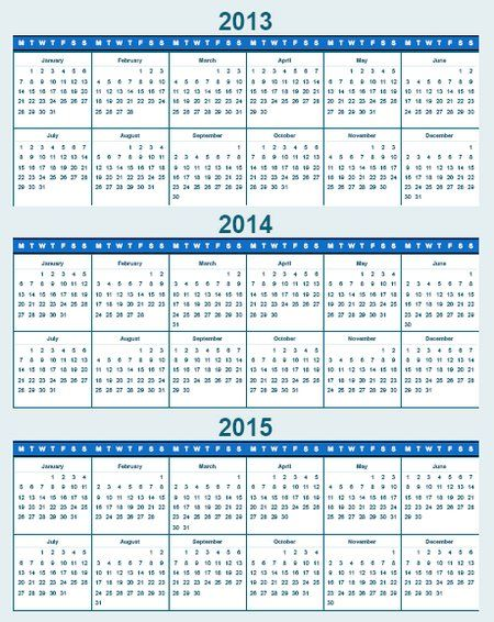 yearly calendar 2013 and 2014 | Printable Calendar 2013 « Home Life Weekly