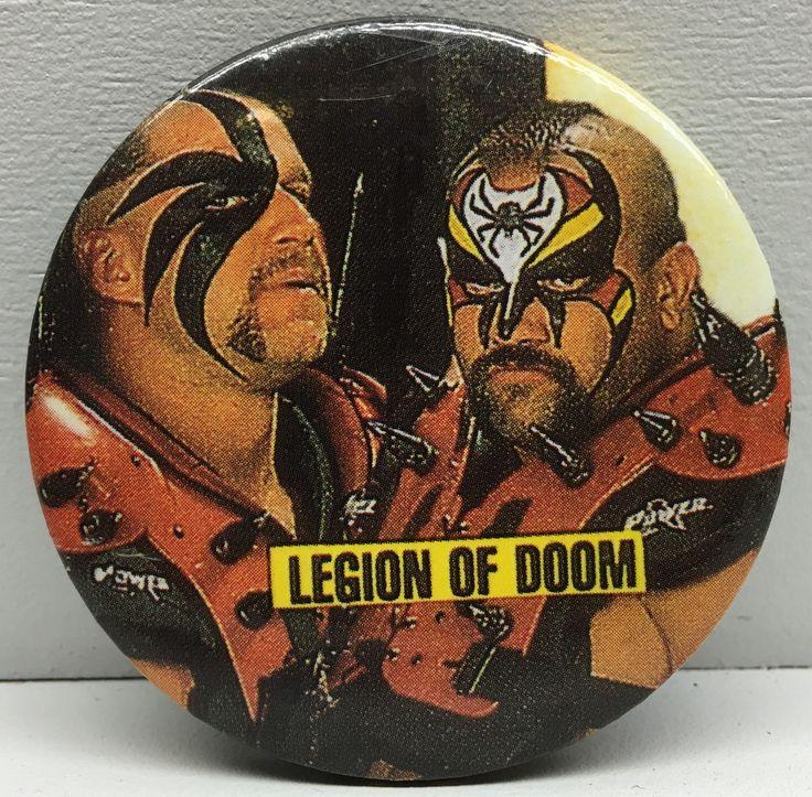 (TAS032860) - WWF WWE WCW Wrestling Button - Road Warriors Hawk & Animal LOD