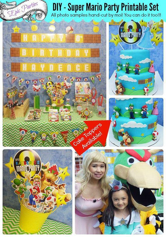 Super Mario Bros. Party Printable  Super by EpicpartiesbyREVO