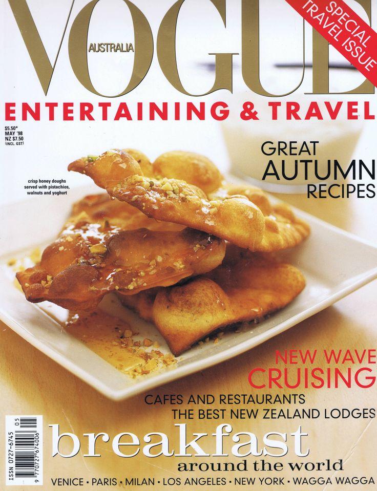 Vogue Entertaining & Travel May 1998 Cover Brooke Aitken Design