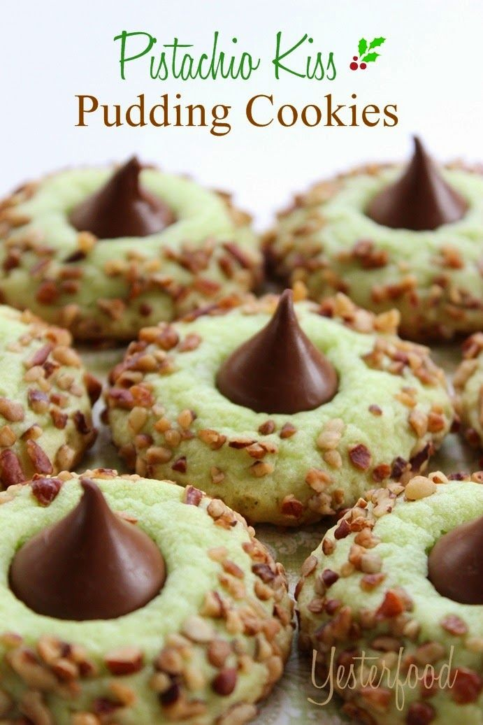 Yesterfood : Pistachio Kiss Pudding Cookies