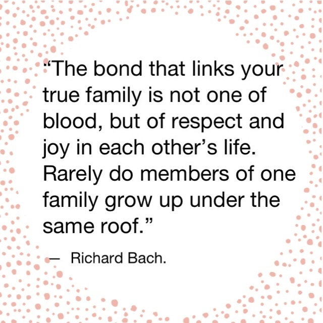 It's not always the blood that links true family, but respect and