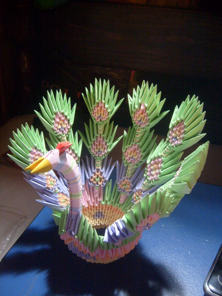 3d origami peacock by merillita on deviantart paper