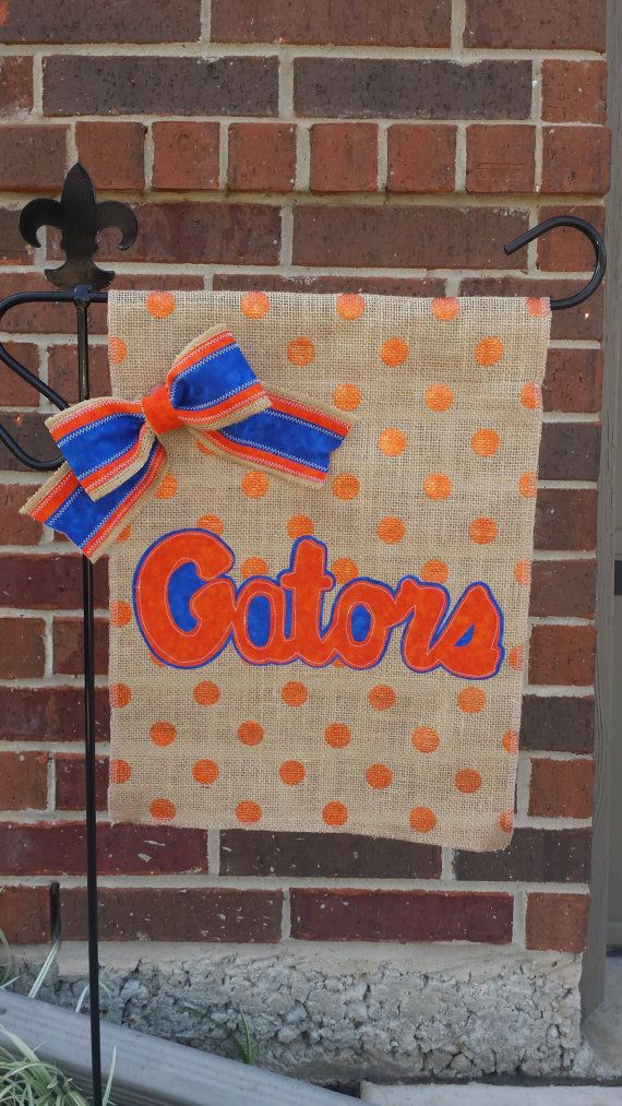 Florida Gators Burlap Garden Flag by RKCreativeDesign on Etsy