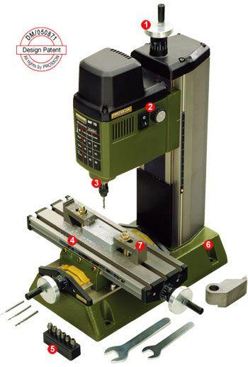 PROXXON MF 70 — tabletop milling machine.