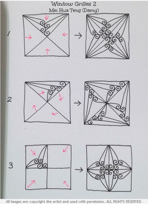 How to draw WINDOW GRILLES 2 « TanglePatterns.com