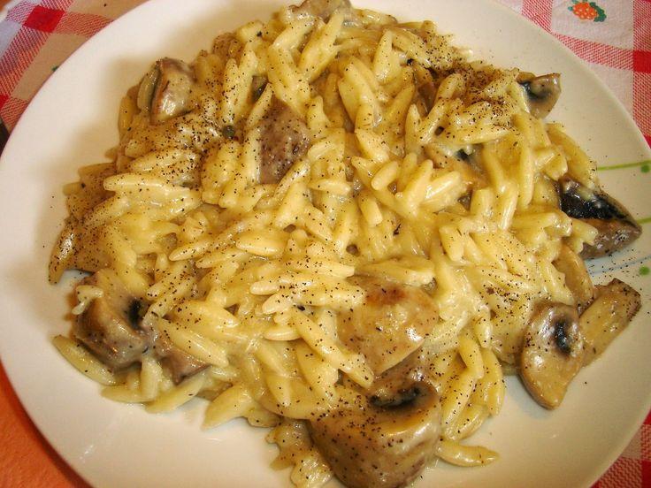 Λευκό γιουβέτσι με μανιτάρια