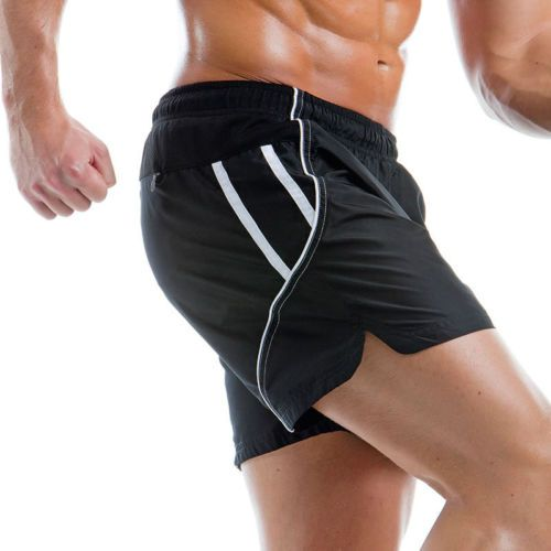 MEN CASUAL ACTIVE SPORT GYM RUNNING FITNESS SHORTS SIZE S-XXL / 2 COLOURS £15.19
