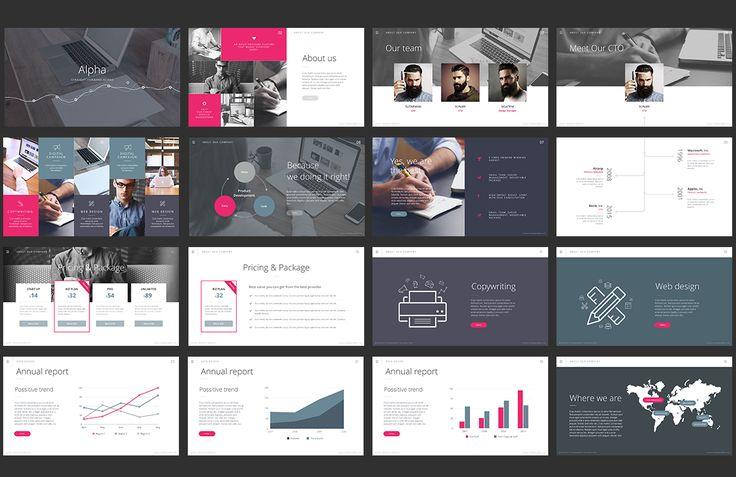 Alpha - Keynote Template by Slidehack on @creativemarket