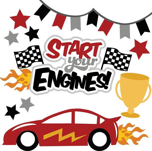 Racing Car Words Clip Art