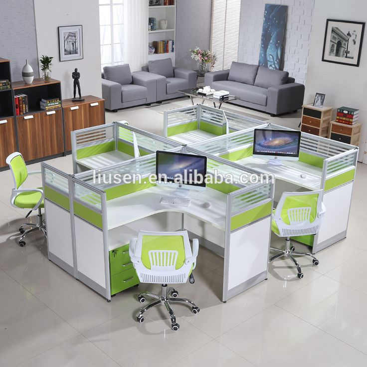 Factory wholesale price office table design photos soundproof wood desktop partition