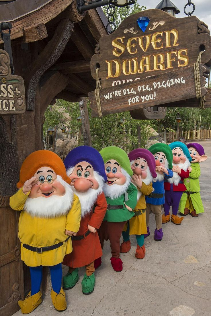 Heigh-Ho! Look who stopped by to check on Seven Dwarfs Mine Train at Magic Kingdom Park!