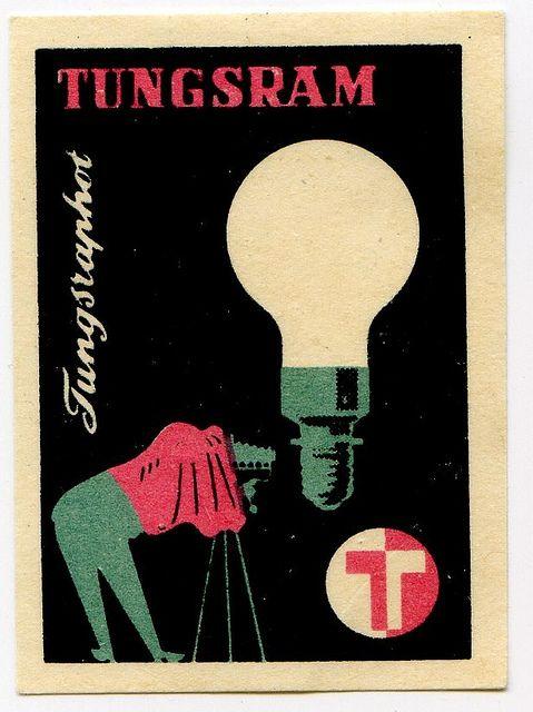 Hungarian matchbox label, 1960's. @Deidra Brocké Wallace