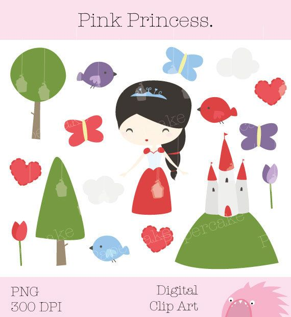 Forest Princess ClipArt for Party Invitations by papercakemakes, $5.00