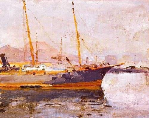 Jan Ciągliński - Port w Neapolu 1911