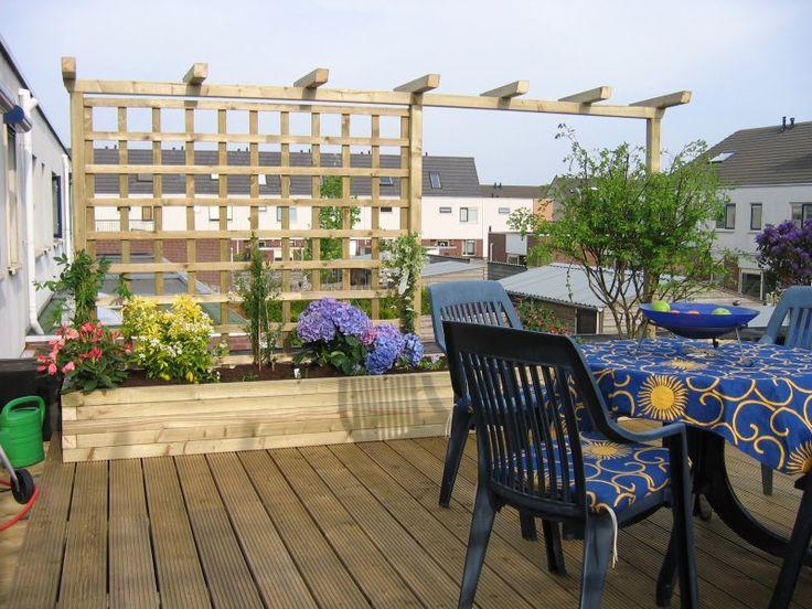 Pergola voor klimplanten google zoeken tuin pinterest met trellis and pergolas - Terras met houten pergolas ...