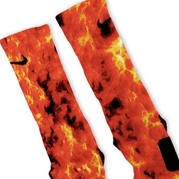 Flames Custom Nike Elite Socks – Fresh Elites