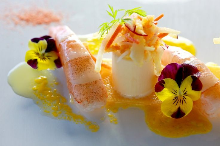 Food Photography - Hearts of palm with shrimp at -Canlis Restaur