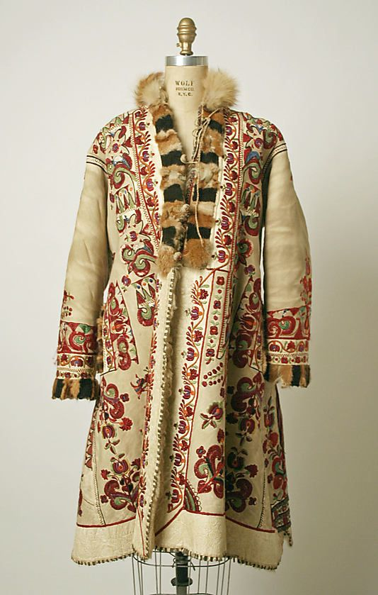Coat Date: 1900 Culture: Romanian Medium: leather