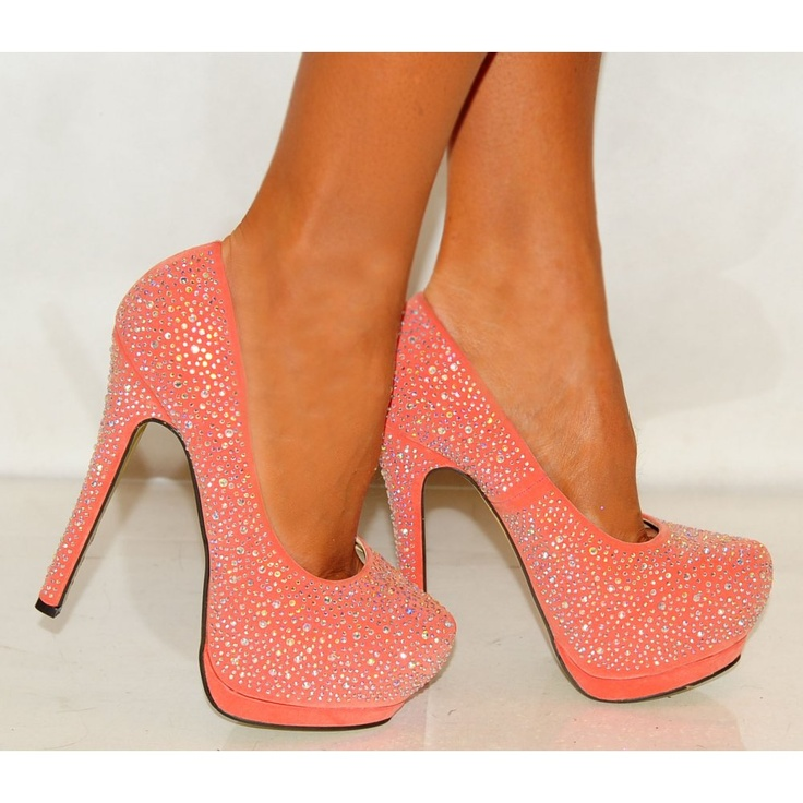 Coral Colored High Heel Shoes