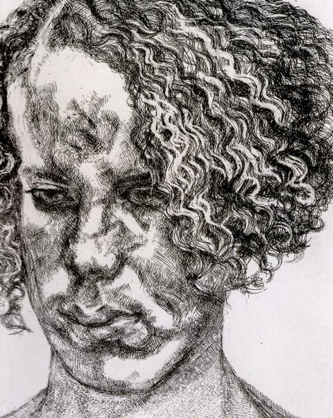 Girl with Fuzzy Hair (Lucian Freud - 2004)