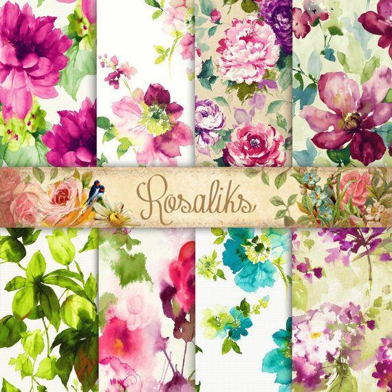 68 Best Images About Floral Digital Paper On Pinterest