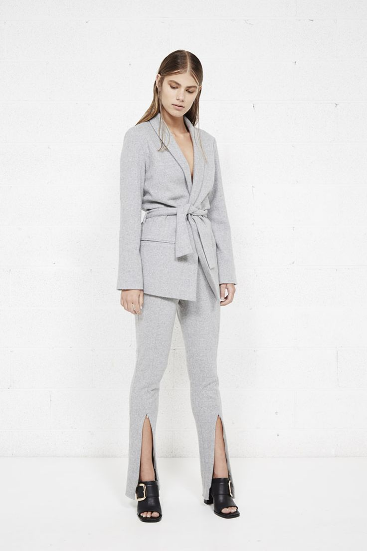 THIRD FORM AW16 PT2 'SPLIT CIGARETTE PANT'  #fashion #minimalism #streetstyle #style #minimal #grey #trouser #suit