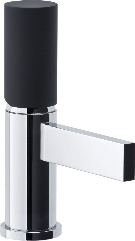 Cyclo Mini Basin Monobloc Mixer in Black/Chrome.