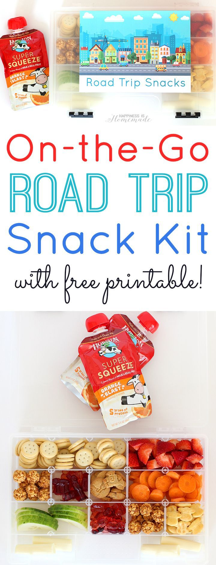 On-the-Go Road Trip Snack Kit with @Horizon_Organic snacks #CuriousKids [ad] - Happiness is Homemade
