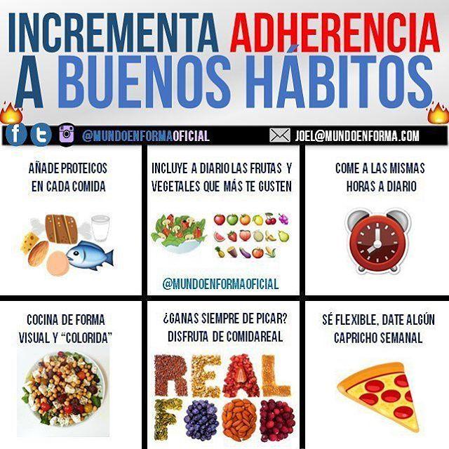 INCREMENTA ADHERENCIA A BUENOS HÁBITOS🔛. - La adherencia, el largo plazo, los buenos hábitos son fundamentales para tener buena calidad de vida, prevenir múltiples enfermedades, estar más estétic@s y no recaer en el sobrepeso. - Es por ello que hoy me dispongo a dar 6 consejos que os pueden ayudar a seguir y mantener estos hábitos saludables a largo plazo: - 1. Añade proteicos en cada comida. Sabido por muchos ya, los efectos beneficiosos de comer suficiente proteína, y me remito…