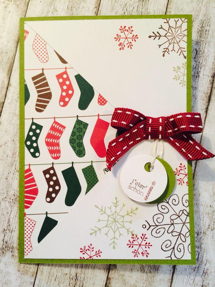 """""""Santa's stocking"""" Christmas Card by Josefin Mente"""