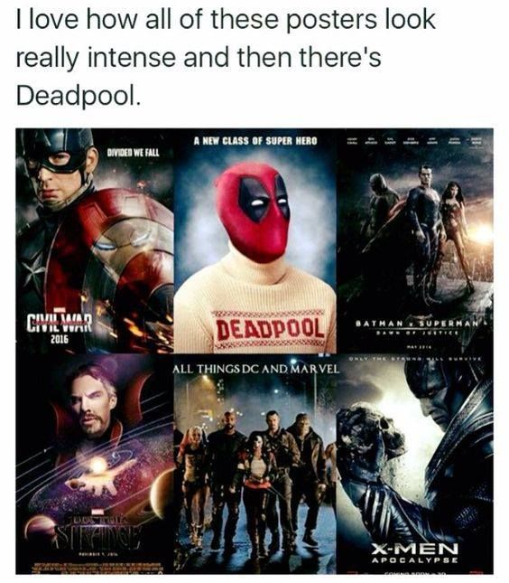deadpool is awesome lmaoo i can't handle it                                                                                                                                                                                 More
