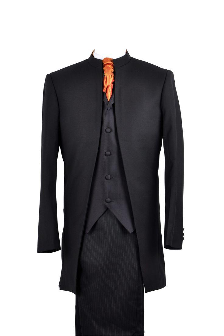"""Suit """"Nehru"""" in black wool"""