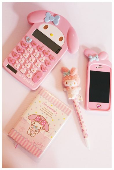 Meloney (or Melody...) school supplies (and iPhone case)! I wish I had some of those for school (: | Sanrio | Hellokitty (jk no but me want more likes <3)