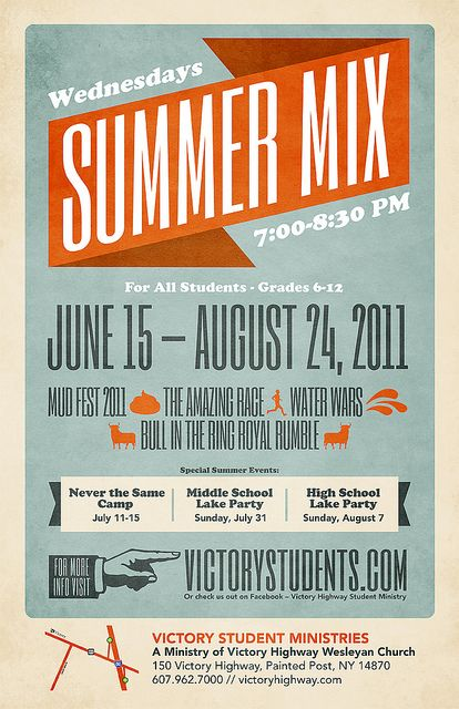 poster for Student Ministries Summer Events
