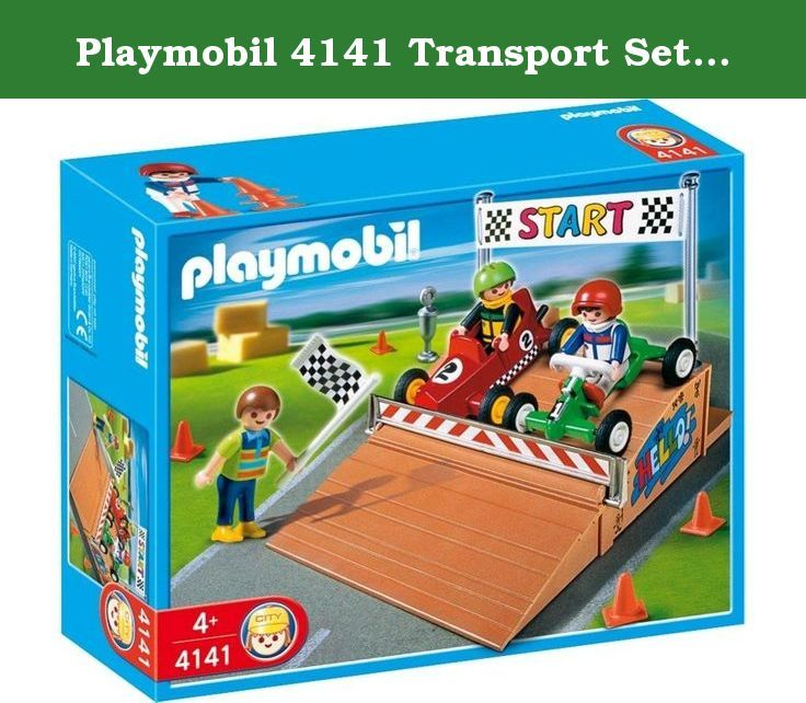 playmobil 4141 transport set gocart race compact set make your suburban life set complete set