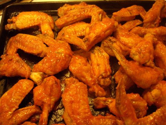 Our favorite commercial wing sauce is Wing-Time sauce, but it can be a bit difficult to find in stores.  My husband likes the hot version (as opposed to the very hot - he says it has more flavor, even though he likes extremely spicy food), and I like the mild version.  Unfortunately, the mild version is almost impossible to find, so I needed to create my own recipe.  And believe me, this recipe makes a nice, tangy, flavorful mild wing sauce!  I use this recipe as the basis for buffalo sauce…