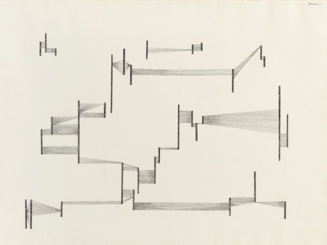 "Dorothy Dehner. ""Untitled,"" 1975 ink on paper"