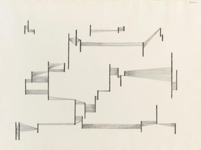 """Dorothy Dehner. """"Untitled,"""" 1975 ink on paper"""