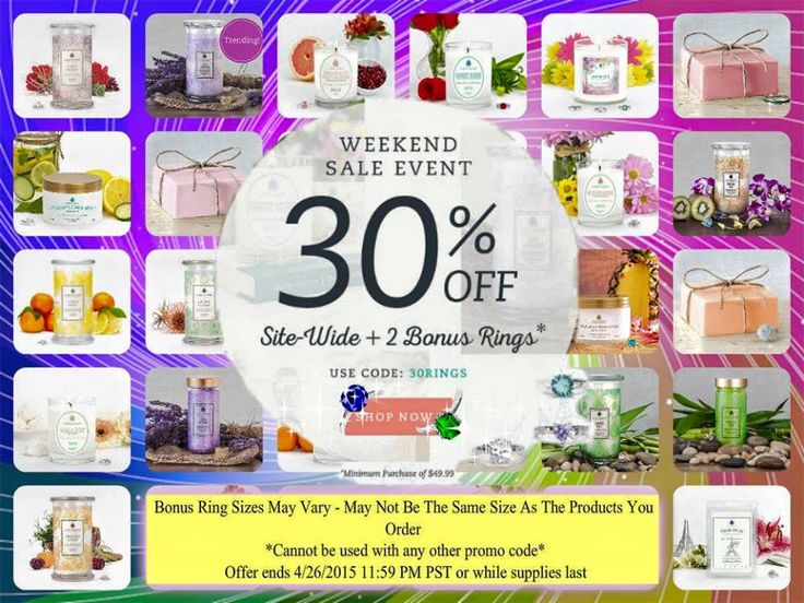 jewelscent is having a major sitewide sale this weekend buy all of your favorite products and get off plus two bonus rings