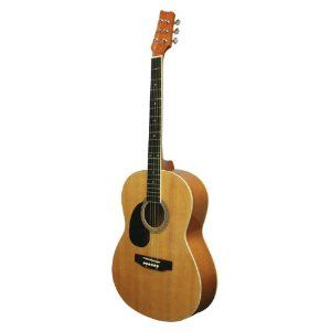 Kona Guitars K391L 39-Inch Left Handed Acoustic Guitar, Natural
