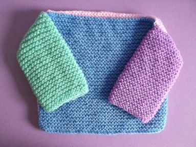 Knitting Patterns Charity : Knitting for Charity - Four Square Baby Jumper FREE Pattern (perfec...