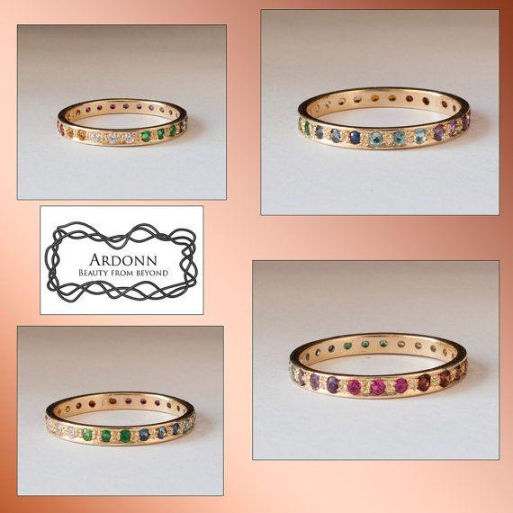 Ring der Ewigkeit Rainbow Ring Smaragd Ring Rubinring von ARDONN