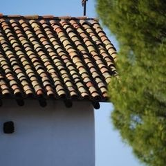 Antique Rooftiles at San Miguel Mission, San Miguel, CA.