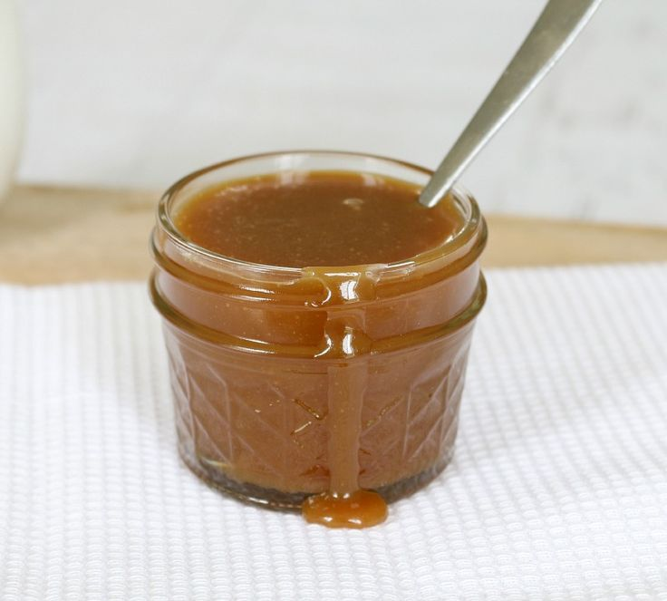 4 Ingredient Thermomix Salted Caramel Sauce made in less than 10 minutes!! Yum! #thermomix