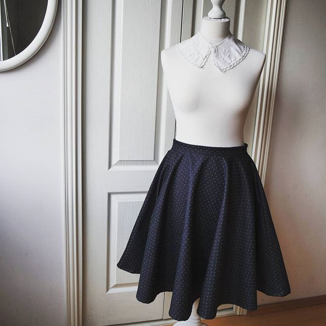 Spring polka dots skirt made for a friend